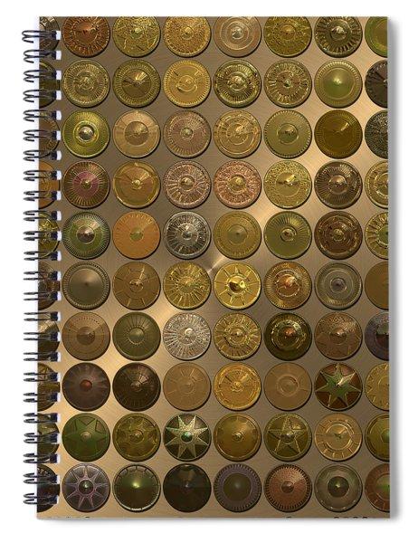 Bronzed Hubcaps Spiral Notebook