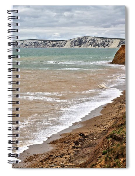 Brook Bay And Chalk Cliffs Spiral Notebook