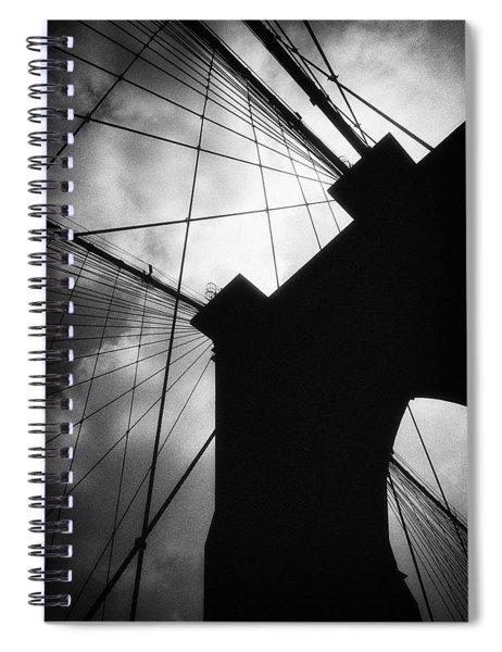 Brooklyn Bridge Silhouette Spiral Notebook
