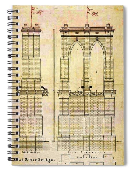 Brooklyn Bridge Tower One Plans Spiral Notebook