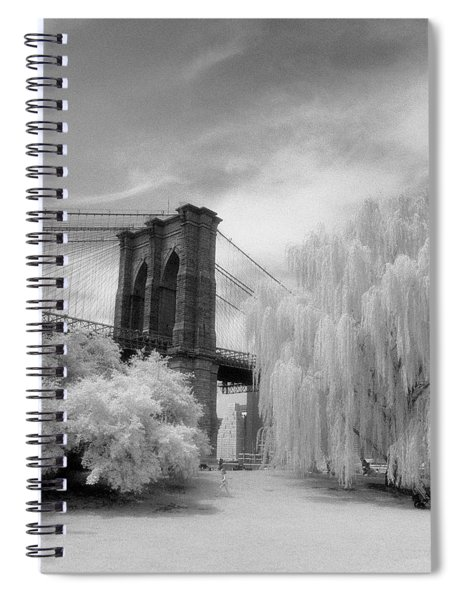 Brooklyn Bridge Willows Spiral Notebook