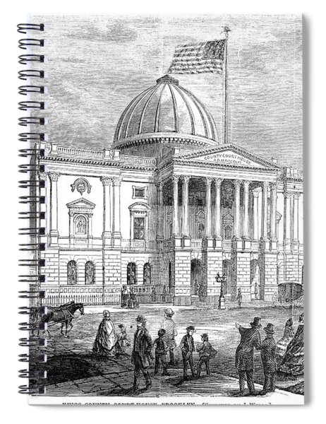 Brooklyn Courthouse, 1865 Spiral Notebook