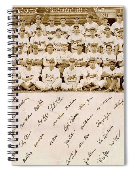 Brooklyn Dodgers Baseball Team Spiral Notebook
