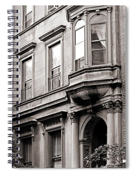 Brooklyn Heights -  N Y C - Classic Building And Bike Spiral Notebook