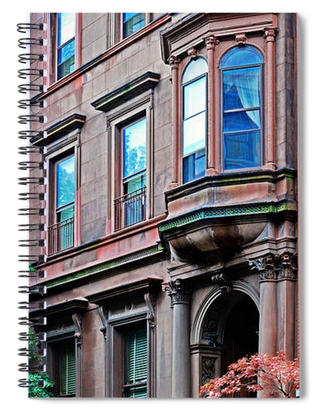Brooklyn Heights - Nyc - Classic Building And Bike Spiral Notebook