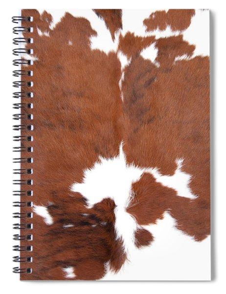 Brown Cowhide Spiral Notebook