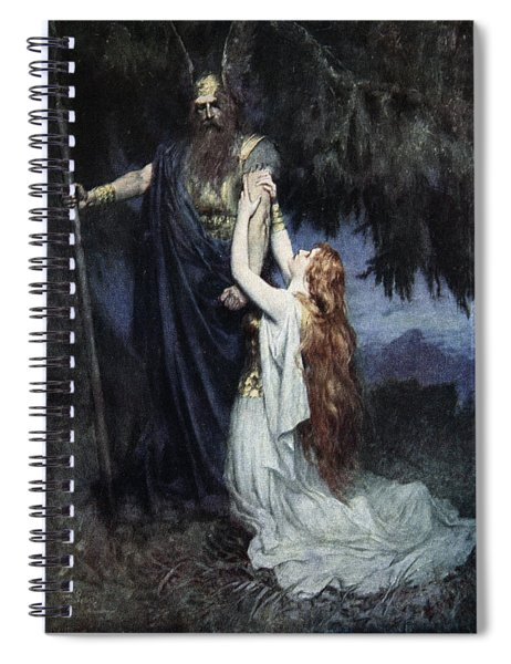 Brunhilde Knelt At His Feet, From The Spiral Notebook