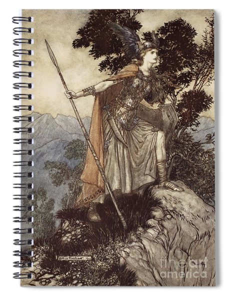 Brunnhilde From The Rhinegold And The Valkyrie Spiral Notebook