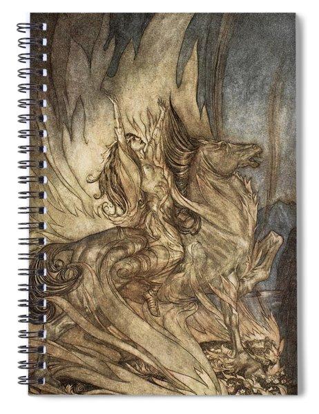 Brunnhilde On Grane Leaps Spiral Notebook
