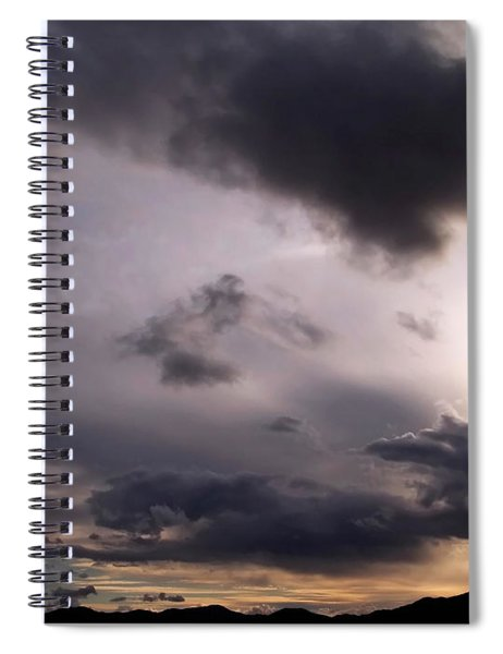 Brushing A Sunset Spiral Notebook