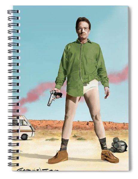 Bryan Cranston As Walter White  @ Tv Serie Breaking Bad Spiral Notebook