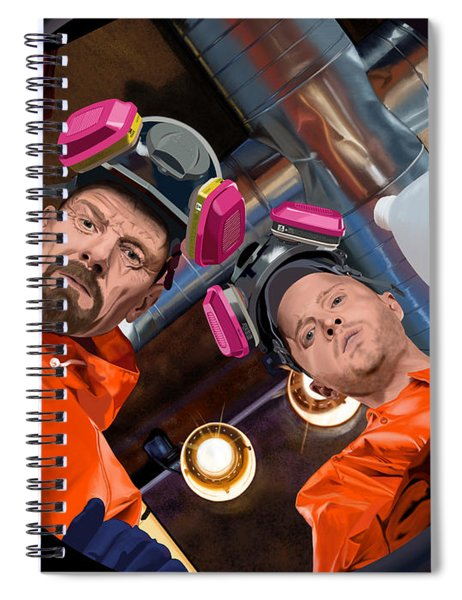 Bryan Cranston As Walter White And Aaron Paul As Jesse Pinkman @ Tv Serie Breaking Bad Spiral Notebook