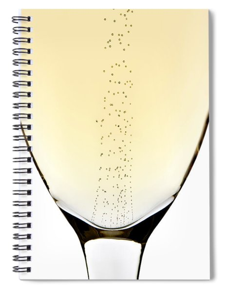 Bubbles In Champagne Spiral Notebook