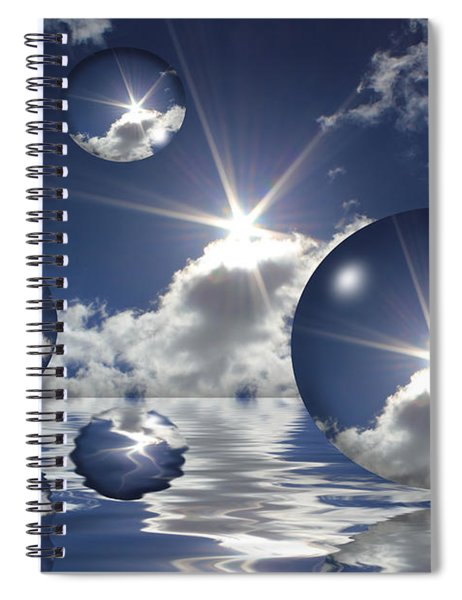 Bubbles In The Sun Spiral Notebook