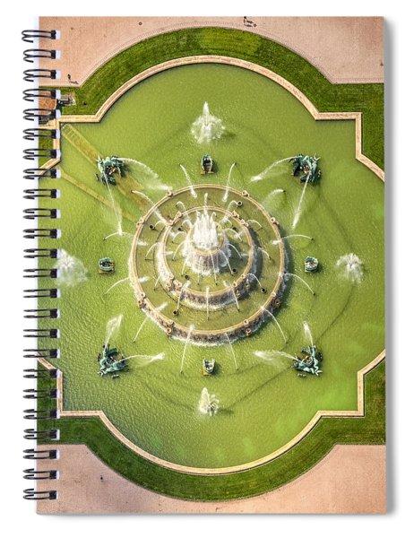 Buckingham Fountain From Above Spiral Notebook