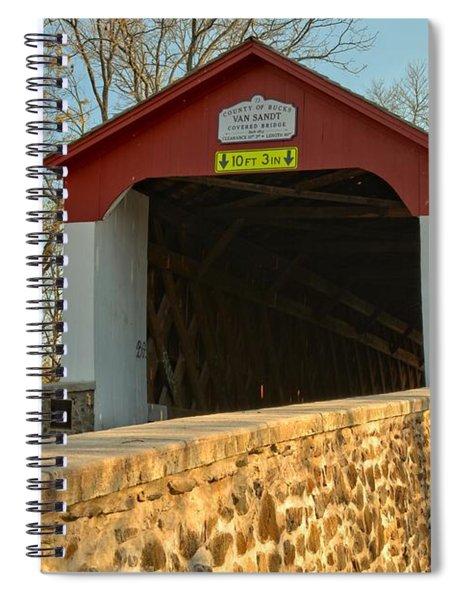 Bucks County Van Sant Covered Bridge Spiral Notebook