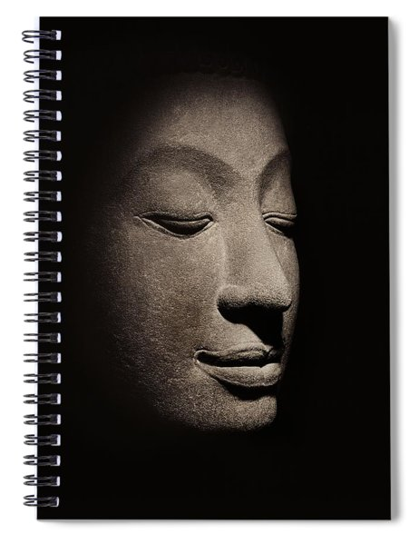 Buddha Head From The Early Ayutthaya Period Spiral Notebook