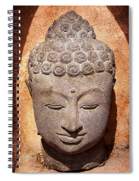 Buddha In Light And Shadow Spiral Notebook