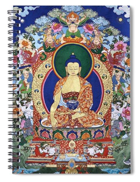 Buddha Shakyamuni And The Six Supports Spiral Notebook