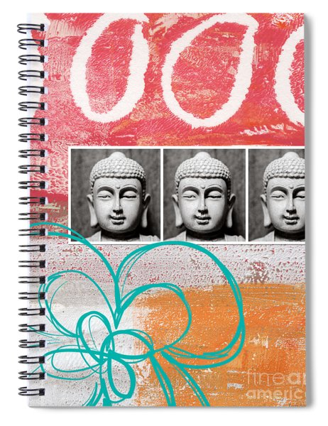 Buddha With Flower Spiral Notebook