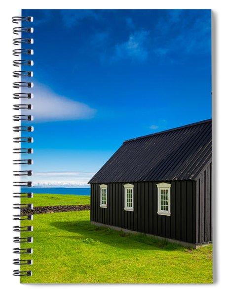 Budir Black Church West Iceland Europe Spiral Notebook