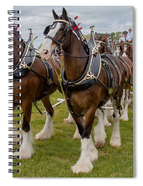 Spiral Notebook featuring the photograph Budweiser Clydesdales by Robert L Jackson