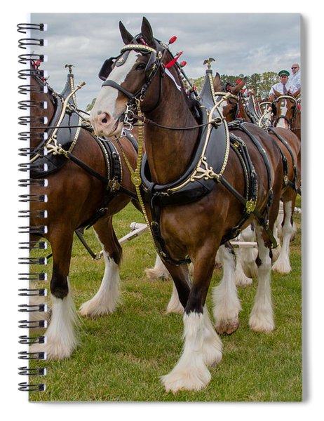 Budweiser Clydesdales Spiral Notebook