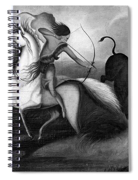 Buffalo Hunt, C1844 Spiral Notebook