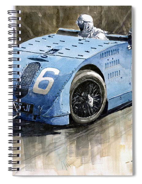 Bugatti Type 32 Tank 1923 French Gp  Spiral Notebook