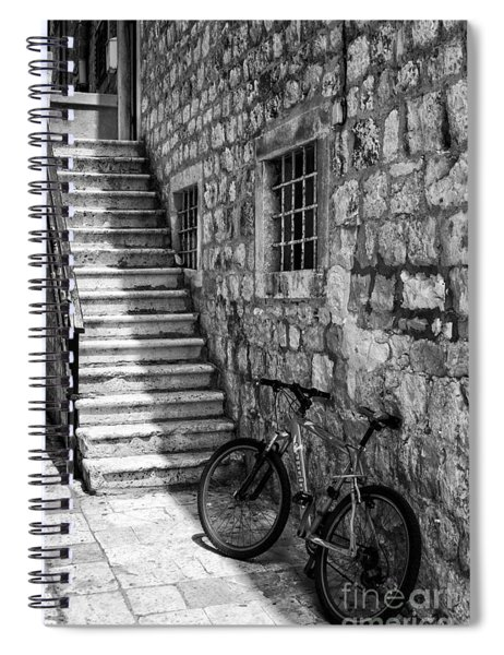 Building And Bike Bw Spiral Notebook