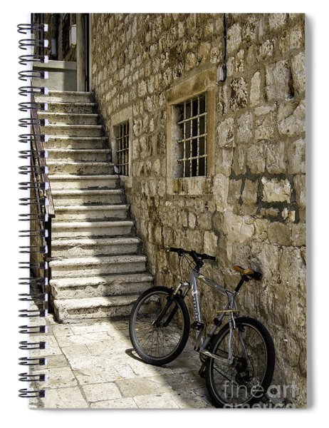 Building And Bike Spiral Notebook