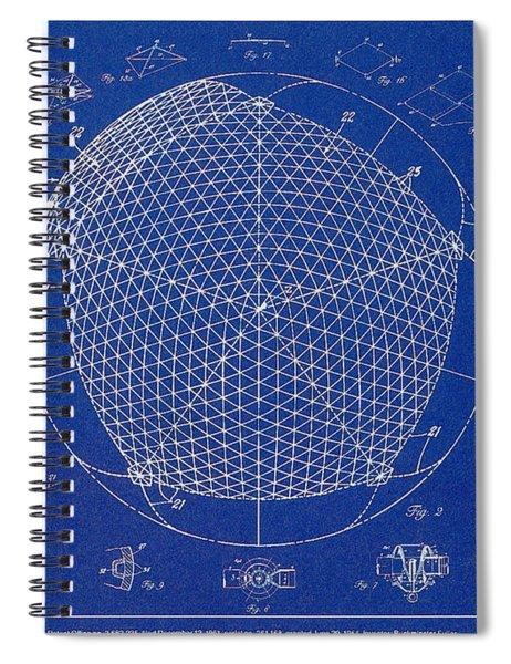 Building Construction Geodesic Dome 1951 Spiral Notebook