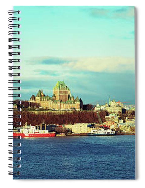 Buildings At The Waterfront, Quebec Spiral Notebook