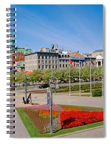 Buildings In A City, Place Jacques Spiral Notebook