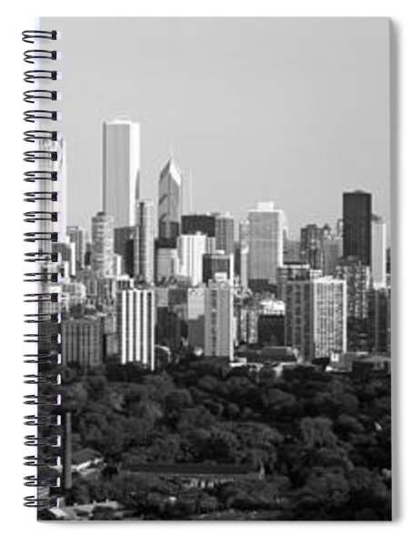 Buildings In A City, View Of Hancock Spiral Notebook