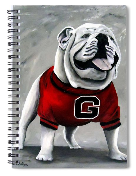 Uga Bulldog College Mascot Dawg Spiral Notebook