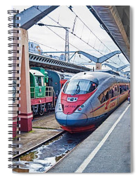Bullet Train At A Railroad Station, St Spiral Notebook