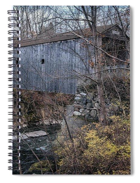 Bulls Bridge Covered Bridge Spiral Notebook