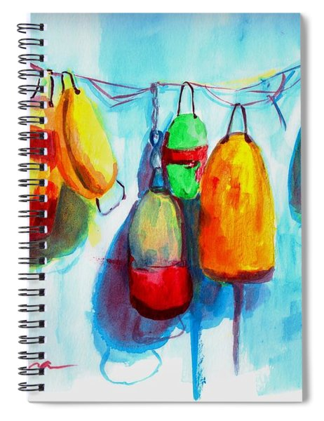 Colorful Buoys Spiral Notebook