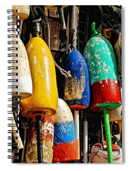Buoys From Russell's Lobsters Spiral Notebook