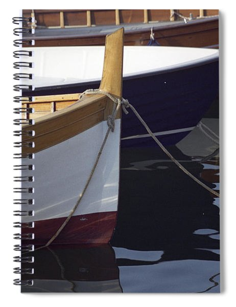 Burgundy Boat Spiral Notebook