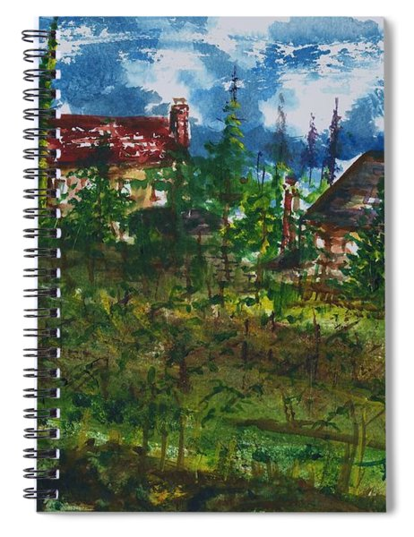 Burgundy In The Morning  Spiral Notebook