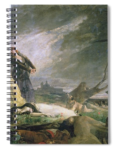 Burial At La Moncloa In May 1808 Oil On Canvas Spiral Notebook