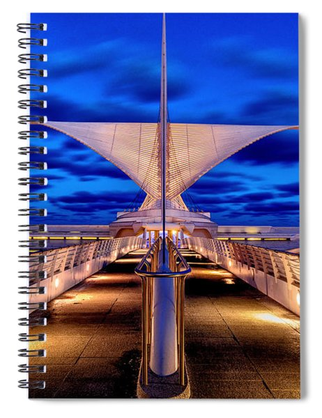 Burke Brise Soleil At Blue Hour Spiral Notebook