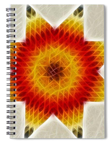 Burnign Star Spiral Notebook