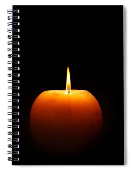Burning Candle Spiral Notebook