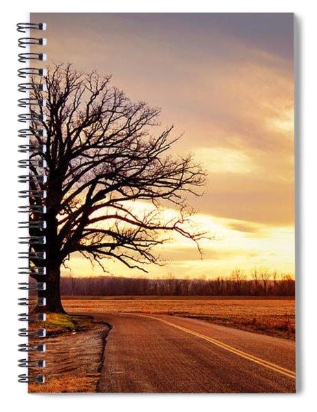 Burr Oak Silhouette Spiral Notebook