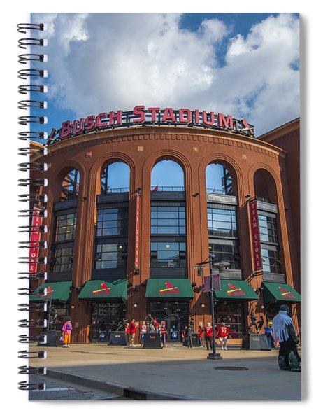 Busch Stadium Clouds Spiral Notebook