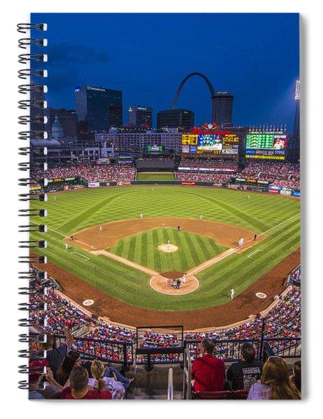 Busch Stadium St. Louis Cardinals Night Game Spiral Notebook