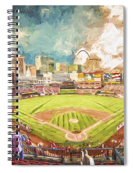 Busch Stadium St. Louis Cardinals Day Paint Spiral Notebook